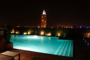 View at night while swimming