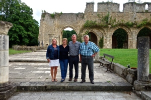 Then we had a farewell dinner at the Abbaye de vaux de Cernay