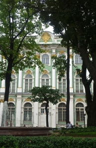 View of the Winter Palace through the garden