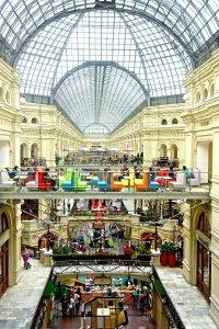 GUM Department store in Moscow. Three levels of great shopping!