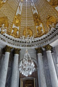 Just the vestibule and its chandelier
