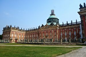 The Neue Palais - on the back of these same grounds of Sanssouci