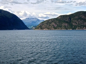 These fjords are so large it's hard to capture them in a photo. Maybe if we had a helicopter!