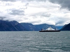 Ferry in the fjords!