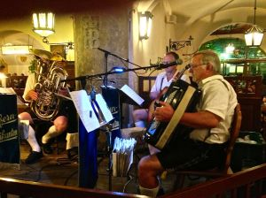 The band was playing tunes all night and will carry on till 3 or 4 in the morning!