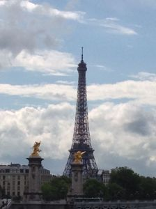 We finally arrived to the city of the Eiffel Tower!