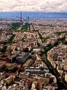 This is the view from the top of the Montparnasse Tower!