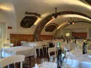 Our hotel restaurant, curved ceilings dating back 660 years old