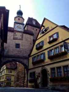 A home inside of Rothenburg turned into a hotel.