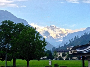 Sun setting in Interlaken