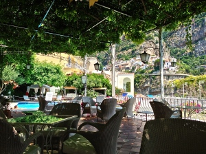 A view from our Patio in Positano.