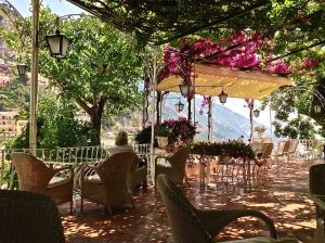 Another view of our Patio in Positano