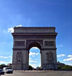Arc de Triomphe - You wouldn't believe what we had to do to get this picture. DODGE PARIS TRAFFIC!!!!