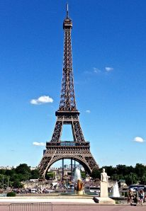 Beautiful daytime view of the Eiffel Tower
