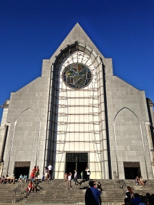 Basilica of Notrea Dame de la Treille, very modern looking for this city's typical architecture