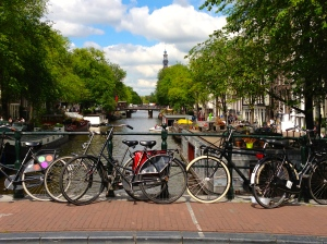 There are more bicycles in Amsterdam than cars.