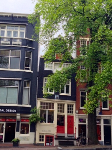 Most of the buildings in Amsterdam are crooked.
