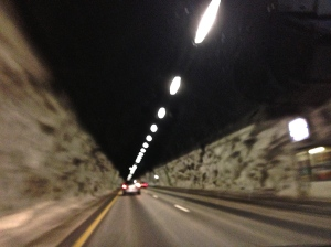 Drove through many tunnels on this trip. But the longest tunnel in Norway, which is 15 miles long was closed due to a truck fire on August 5th.