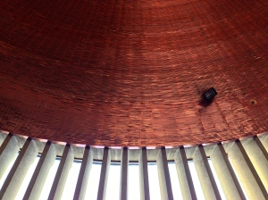 The dome of the church is made from a copper disc.