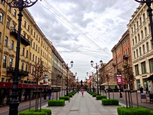 Nice little street in St. Petersburg