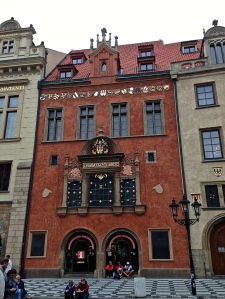 Nice building along the side of the town square.