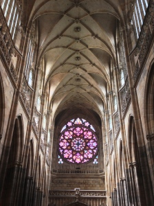 There are windows like this that line the church on all sides