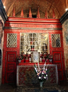 This is the shrine inside of the Santa Casa Loreto