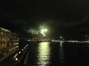 Loved the fireworks out our window.