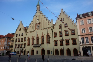 Typical building in Landshut