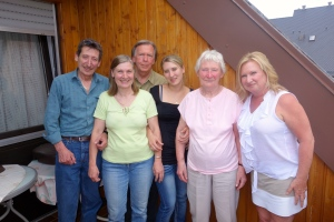 Segfried, Peggy, Norm, Alexandra, Aunt Lisel, Rita (L to R)