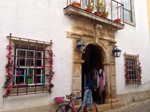 Another beautiful doorway in Obidos, Portugal