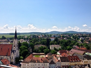 View of Melk from Abbey