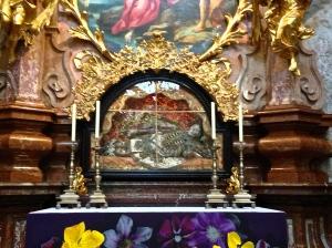 Close up of St. John the Baptist Alter