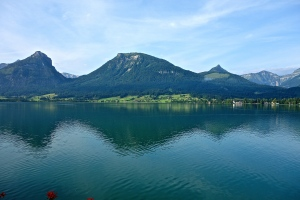 Woke up to this view Monday, had to say goodbye and get going to Salzburg.