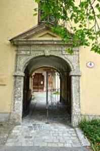 The door to the Abbey that the soldiers came looking for the Von Trapp's.