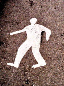 """We believe this means """"walking path"""" and that it is not a CRIME SCENE...."""