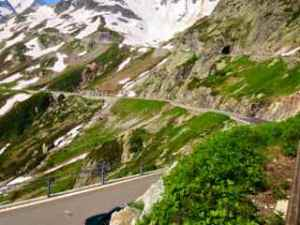 More curvy roads with steep drop offs