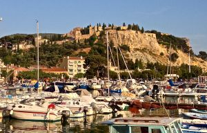 We found Cassis and decided to try for a room here, but had to settle for just dinner on the harbor.