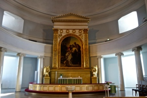 The alter of the Lutheran Cathedral
