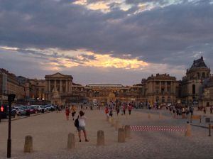 A sunset picture of Versailles
