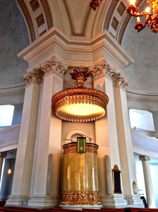 The pulpit in the Lutheran Cathedral