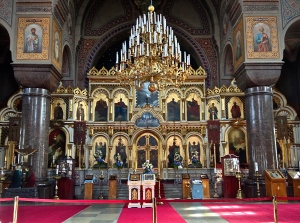 Interior of the orthodox cathedral
