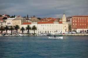 Beautiful view of Split from the pier.