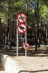 Our rules just before entering the beach area!