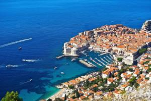 View of Dubrovnik from above the mountaintop!