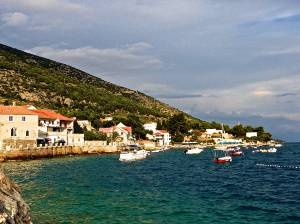 Our first sight of Bol, Croatia after getting off the ferry.