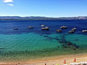 This is what we saw as we were walking to our famous Zlatni Rat beach!