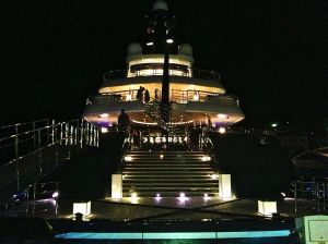 Polish billionaire's yacht, Phoenix 2. 5 stories high!