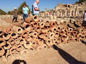 These types of water pipes were invented here for the first time.