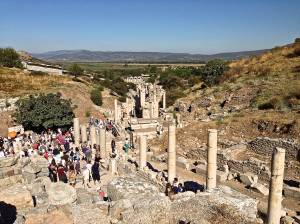 Overall View of Curetes Street in Ephesus as you enter.